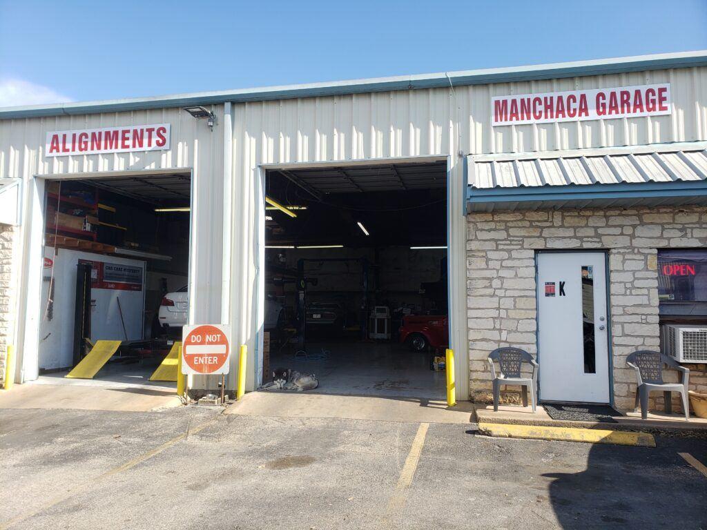 manchaca garage shop entrance